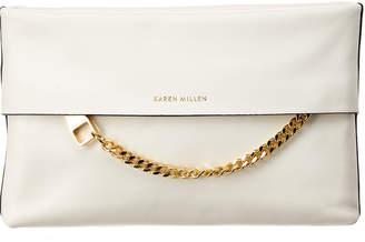 Karen Millen Chain Zip Leather Clutch
