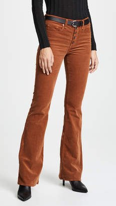 Veronica Beard Jean Beverly Button Fly Flares