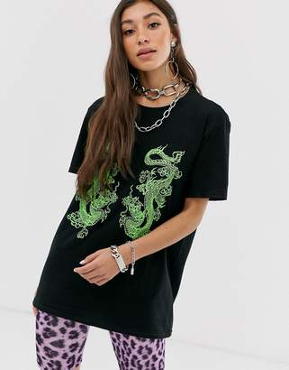Dragon Optical New Girl Order oversized t-shirt with graphic