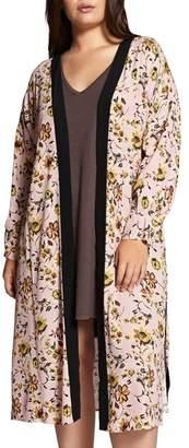 Sanctuary Calico Kimono (Plus Size)