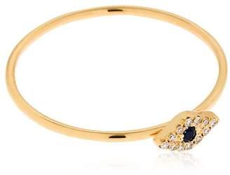 Ef Collection Diamond Mini Evil Eye 14kt Gold Ring