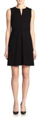 Theory Miyani Edition Wool-Blend Flare Dress