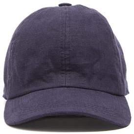 Co Lock and Hatters Lock and Rimini Baseball Cap In Navy Linen