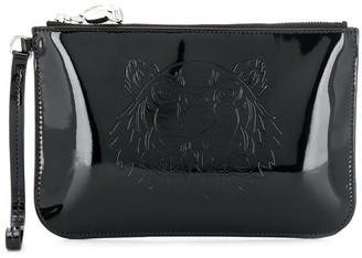 Kenzo embossed logo clutch bag