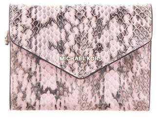 Michael Kors Leather Monogram Wallet