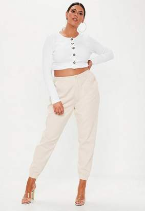 Missguided Plus Size Beige Combat Pants