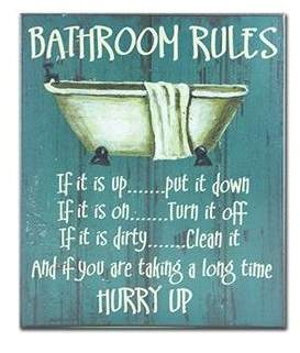 Laundry by Shelli Segal August Grove Bathroom Rules Textual Art