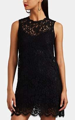Dolce & Gabbana Women's Floral Lace A-Line Dress - Black