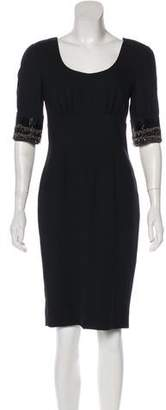 Magaschoni Embellished Knee-Length Dress
