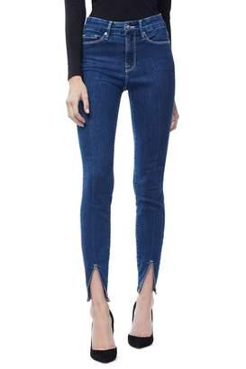 Ga Sale Good Legs Crop Front Slit Jeans - Blue181 GOOD AMERICAN