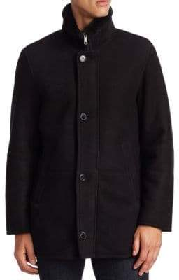 Saks Fifth Avenue COLLECTION Shearling Stand Collar Jacket