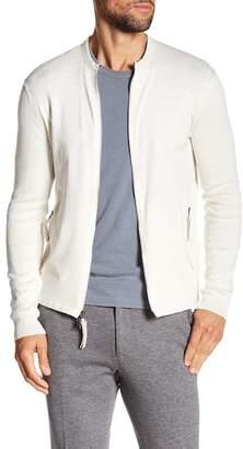 John Varvatos Collection Jersey Rib Zip-Up Sweater
