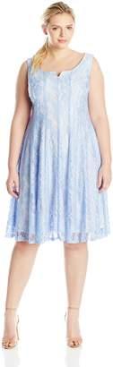 Julian Taylor Women's Plus-Size Lace A-Line Dress