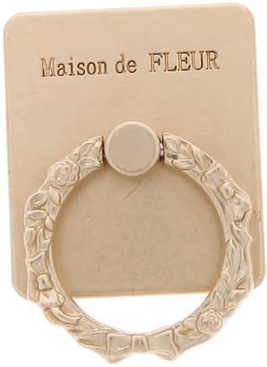 Maison de Fleur (メゾン ド フルール) - Maison de FLEUR マットゴールドプレーンスマホリング