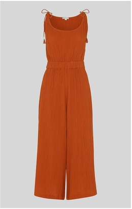 Whistles Mila Textured Casual Jumpsuit