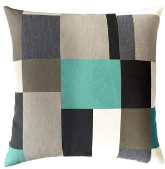 Noir Block Indoor/Outdoor Accent Pillow