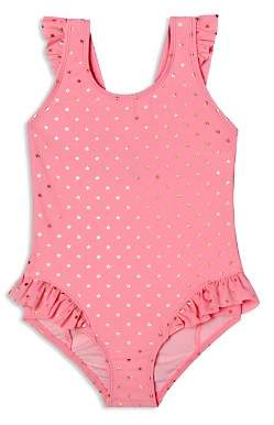 Hula Star Girls' Twinkle Star Ruffled Swimsuit - Little Kid