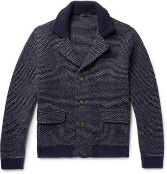 Thom Sweeney Two-Tone Cashmere And Virgin Wool-Blend Cardigan