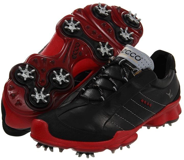 Ecco Biom Golf GTX (Black/Black/Brick) - Footwear