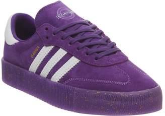 official photos ee5aa 23af8 adidas Samba Rose Trainers Purple White Gold Metallic Elizabeth Tfl