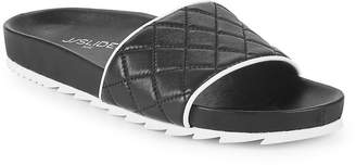J/Slides Women's Quilted Leather Slides