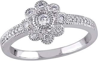 Affinity Diamond Jewelry Affinity 1/4 cttw Floral Diamond Ring, 14K