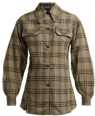 Joseph Asher Tartan Wool Shirt - Womens - Grey