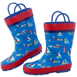 Stephen Joseph All Over Nautical Print Rain Boots