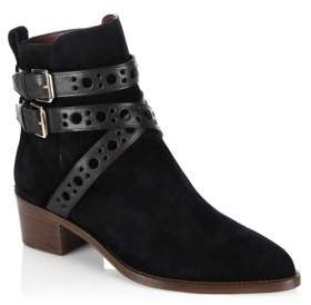 Burberry Bridle Dearlane Suede Ankle Boots