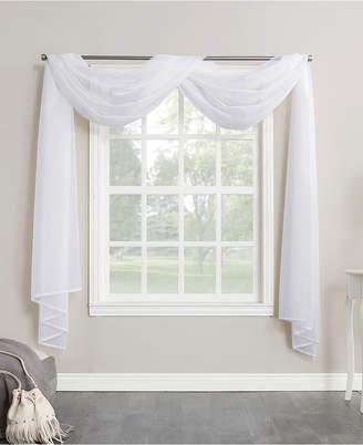 """Lichtenberg No. 918 Sheer Voile 59"""" X 216"""" Window Curtain Scarf"""
