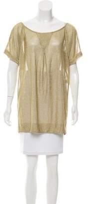 Diane von Furstenberg Metallic Short Sleeve Top