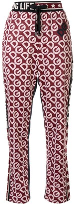 Dolce & Gabbana logo-print straight-leg track pants