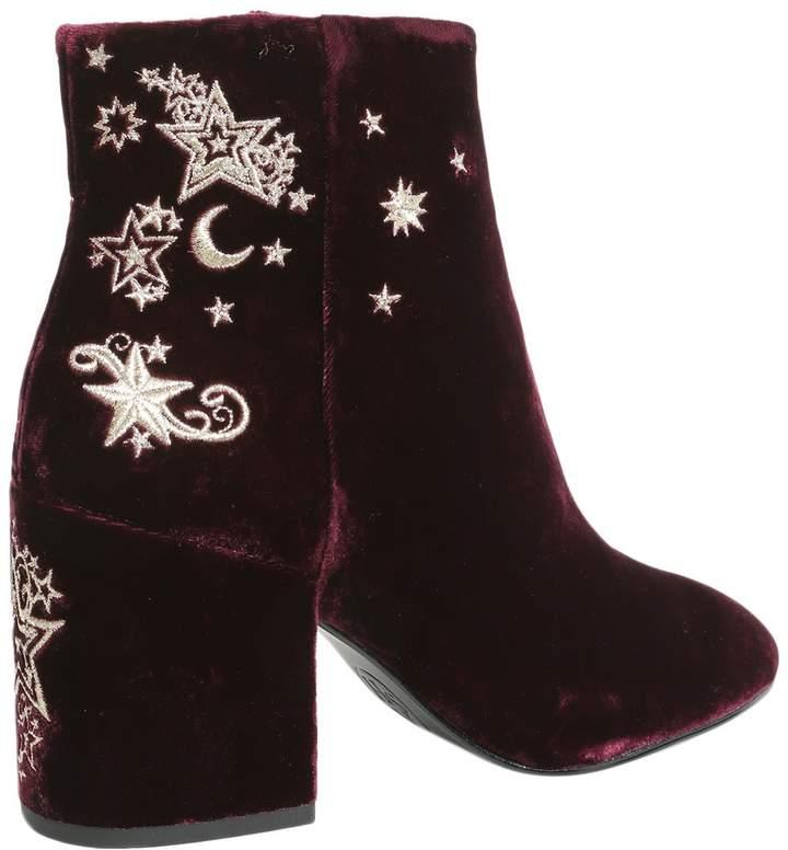 Ash Elixir Velvet Ankle Boots