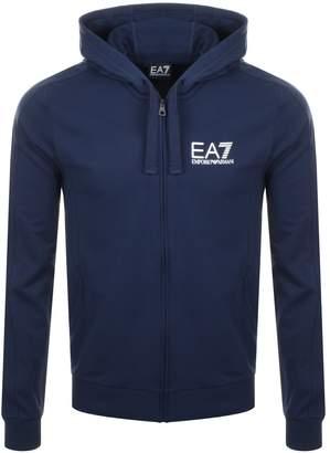 Emporio Armani EA7 Full Zip Logo Hoodie Navy