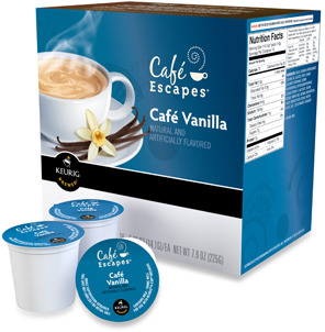 Keurig K-Cup® Gourmet Single Cup Cafe® Escapes Cafe Vanilla for 16 Count