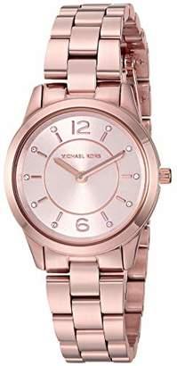 Michael Kors Women's 'Runway' Quartz Stainless-Steel-Plated Watch