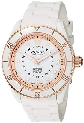 Alpina Women's 'Comtesse' Swiss Quartz Stainless Steel and Rubber Fitness Watch