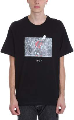 Throw Back Jordan Black Cotton T-shirt