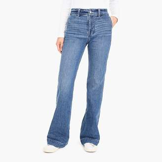 J.Crew Wide-leg trouser jean in light Lagoon wash