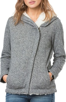 Women's O'Neill 'Crestline' Faux Fur Lined Hoodie $74 thestylecure.com