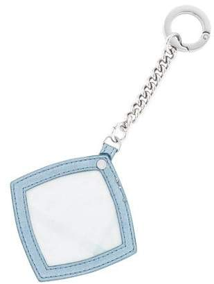 Burberry Leather-Trimmed Mirror Keychain