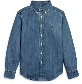 Ralph Lauren Boys' Denim Button-Down Shirt - Big Kid