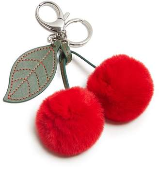 Rebecca Minkoff Cherry Fur Key Fob