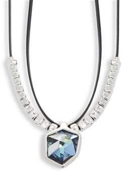 Uno de 50 Swarovski Elements Crystal and Leather Necklace