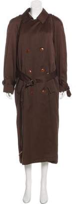 Etienne Aigner Double-Breasted Long Coat
