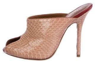 Malone Souliers Dawn Snakeskin Sandals w/ Tags