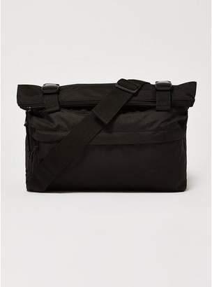 Topman Mens Black Cross Body Zip Roll Bag