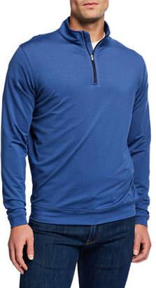 Peter Millar Men's Perth Stripe Quarter-Zip Sweater