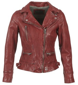 Oakwood VIDEO women's Leather jacket in Red