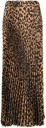 P.A.R.O.S.H. pleated leopard print skirt